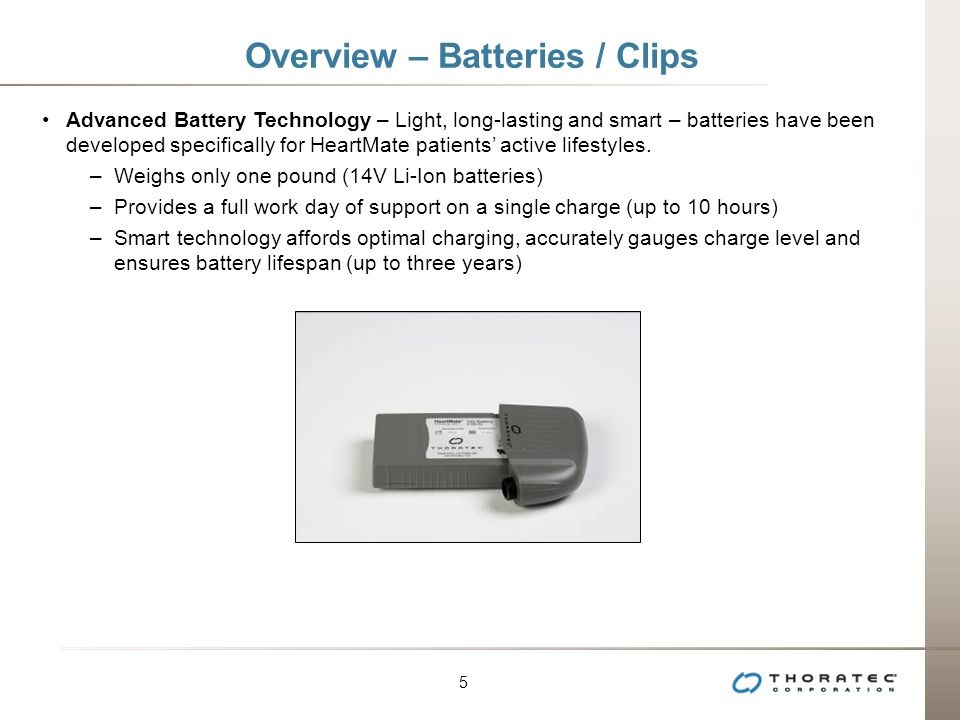Overview – Batteries / Clips