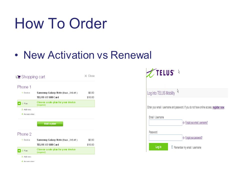How To Order New Activation vs Renewal