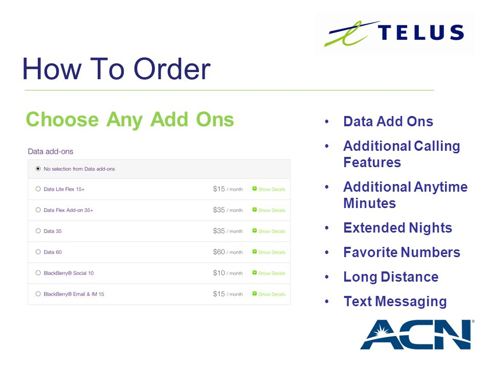 How To Order Choose Any Add Ons Data Add Ons