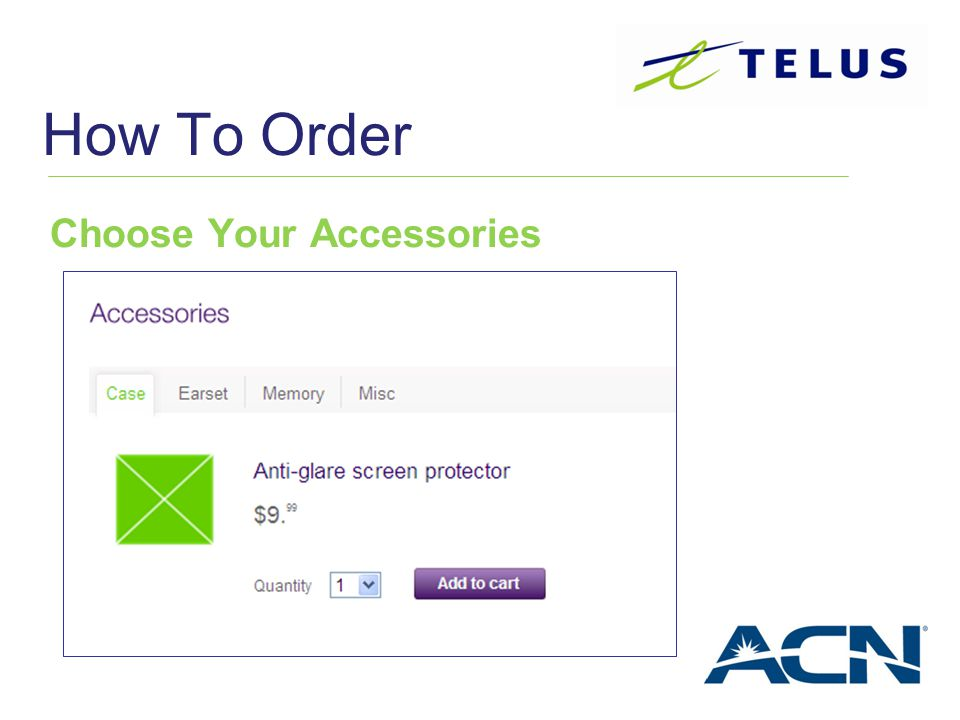How To Order Choose Your Accessories