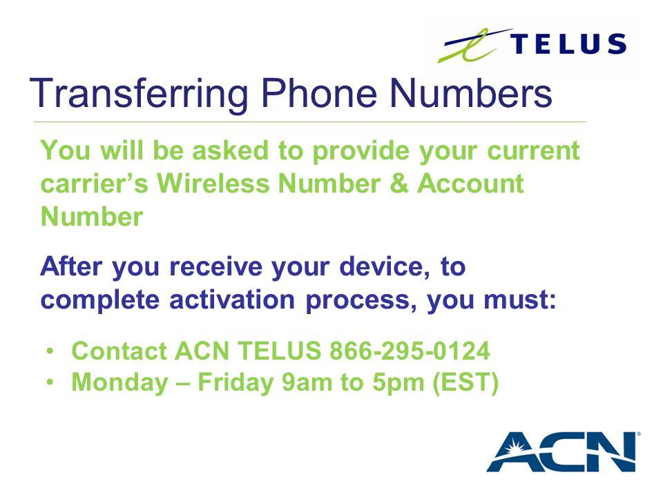 Transferring Phone Numbers