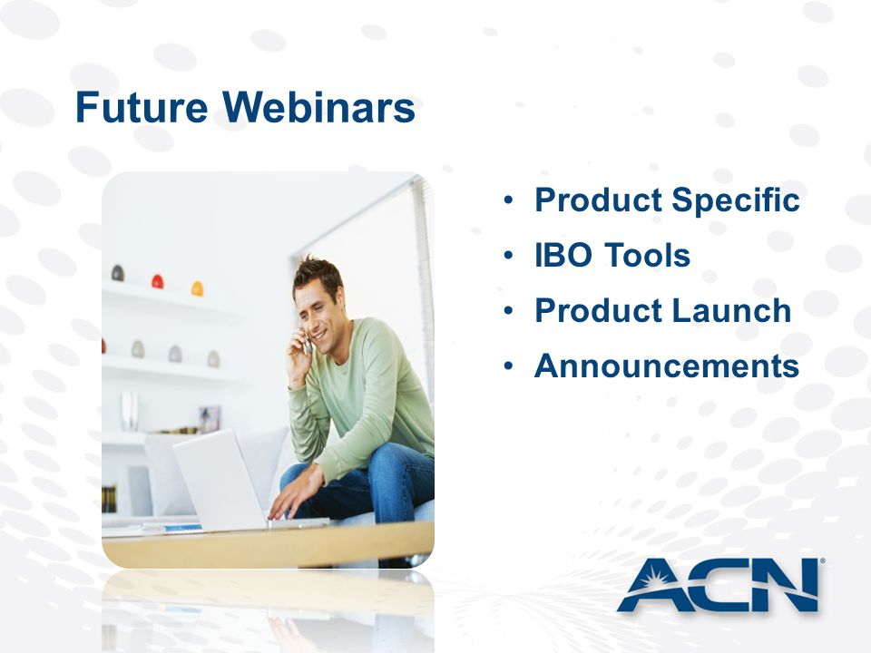 Future Webinars Product Specific IBO Tools Product Launch