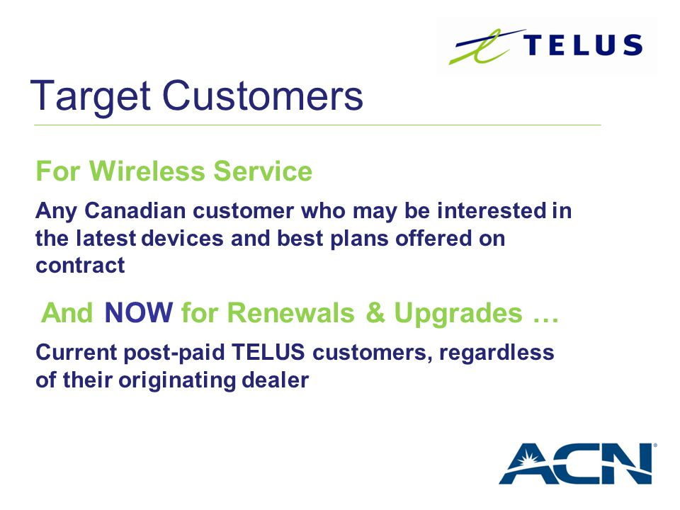 Target Customers For Wireless Service