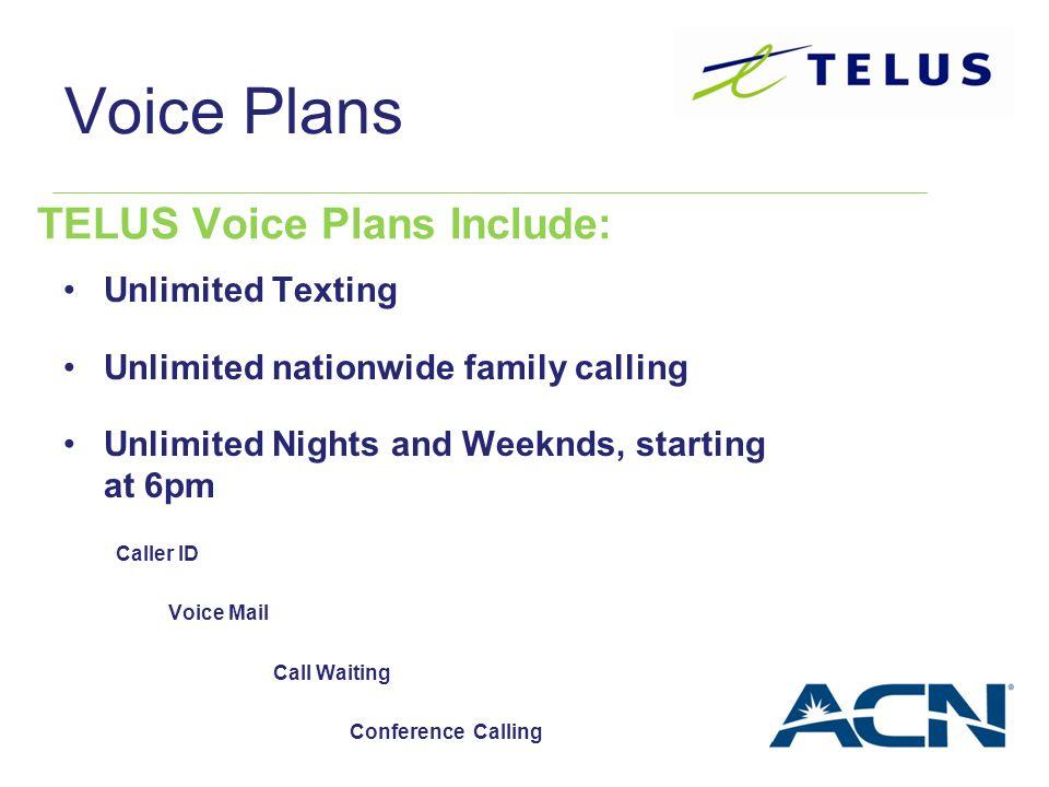 TELUS Voice Plans Include: