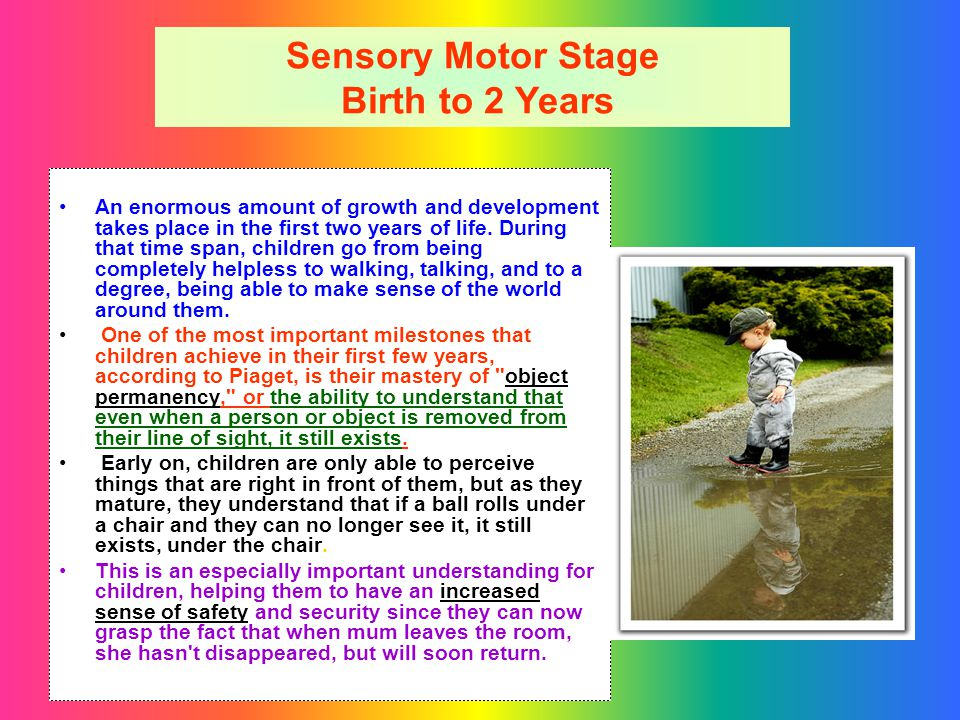 Sensory Motor Stage Birth to 2 Years