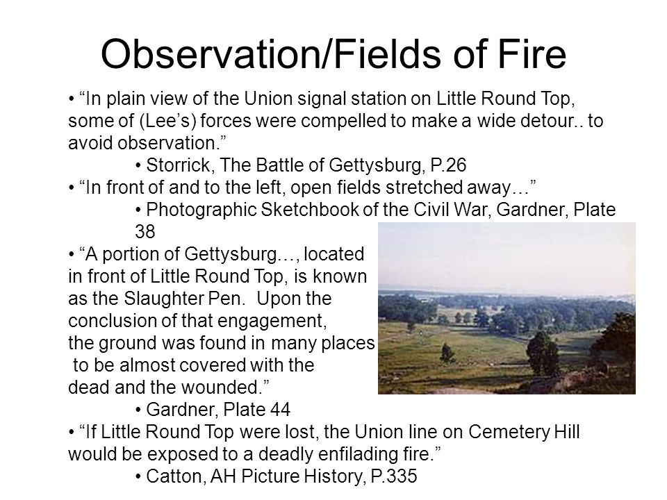 Observation/Fields of Fire