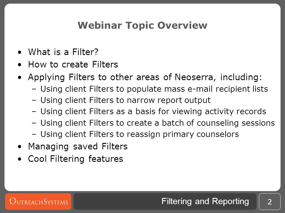 Webinar Topic Overview