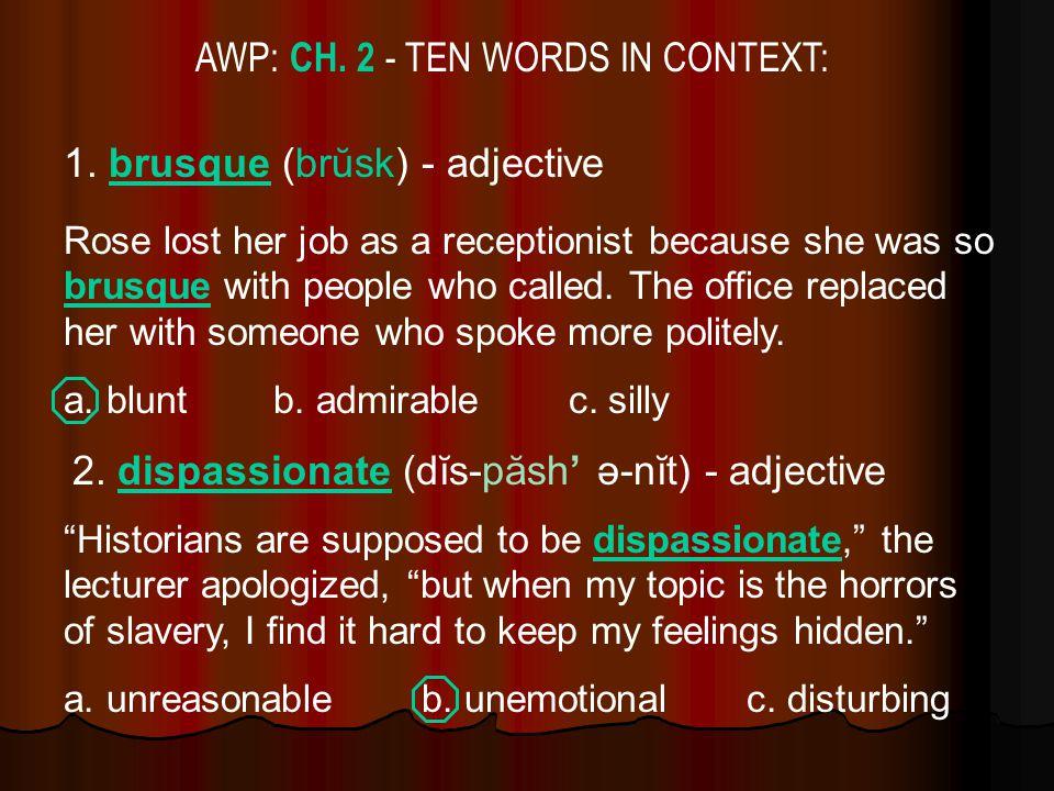 AWP: CH. 2 - TEN WORDS IN CONTEXT: