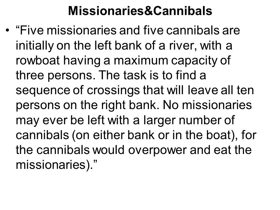 Missionaries&Cannibals