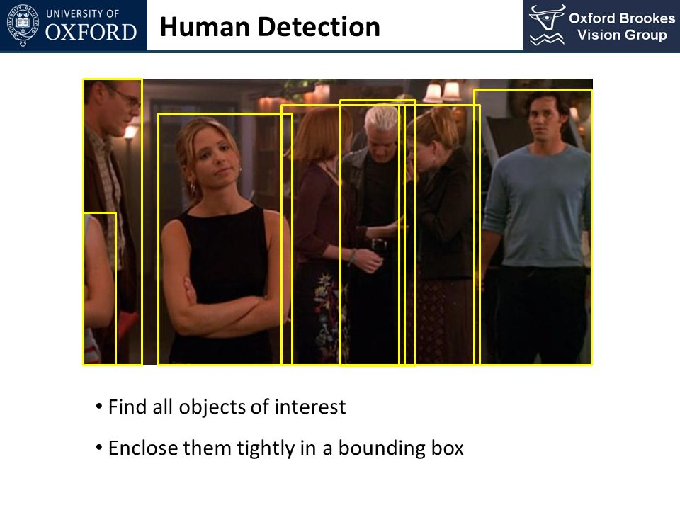Human Detection Find all objects of interest