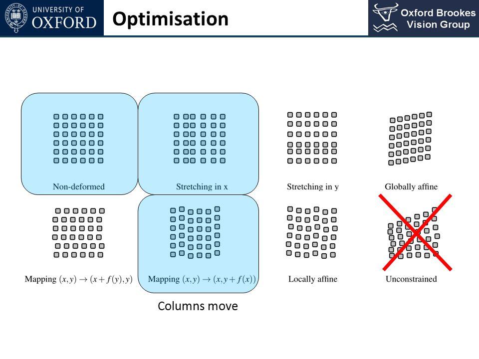 Optimisation Columns move