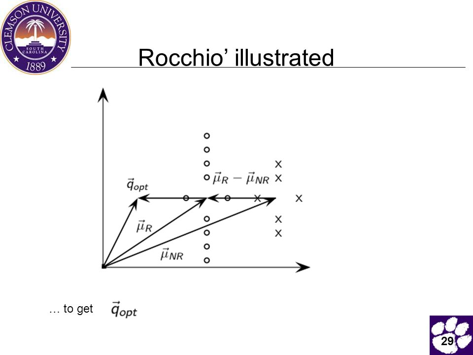 Rocchio' illustrated … to get