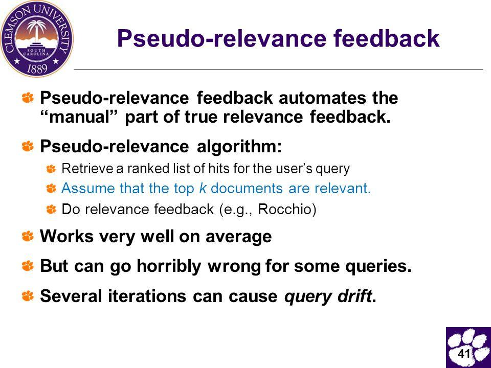 Pseudo-relevance feedback