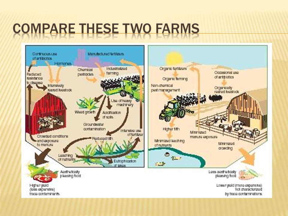 Compare these two farms