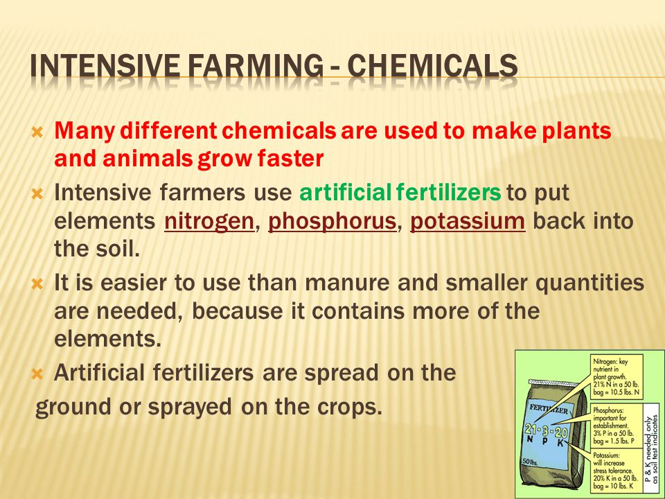 Intensive Farming - chemicals