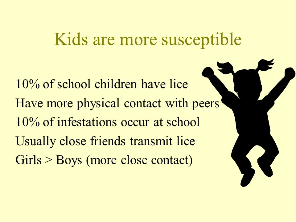 Kids are more susceptible