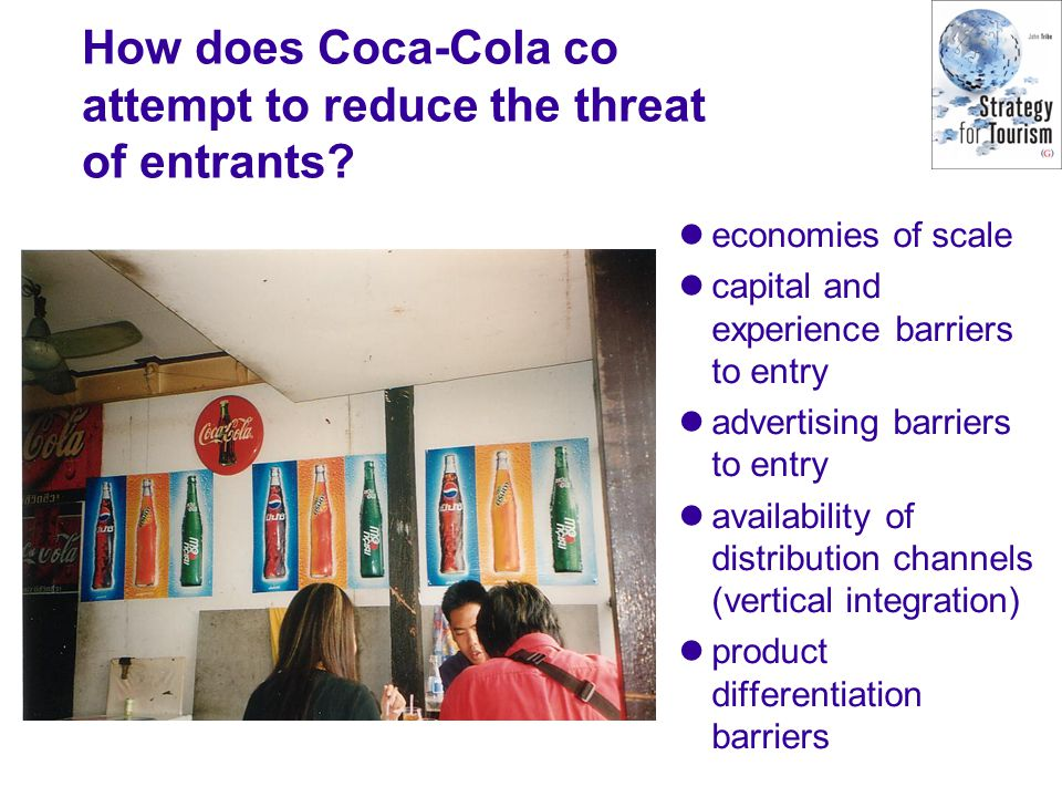 How does Coca-Cola co attempt to reduce the threat of entrants