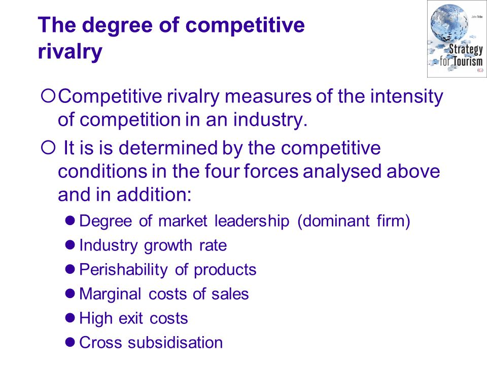 The degree of competitive rivalry