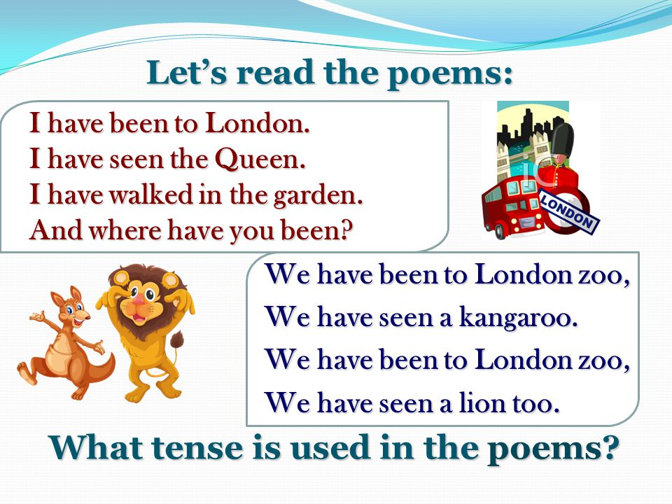 What tense is used in the poems