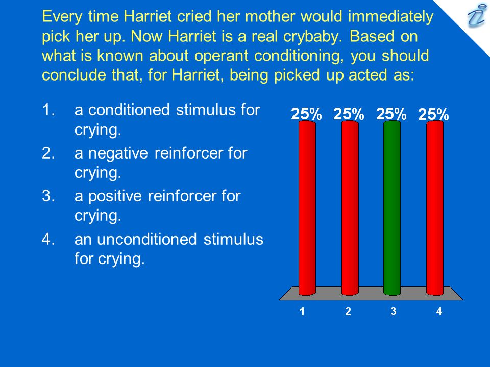 Every time Harriet cried her mother would immediately pick her up