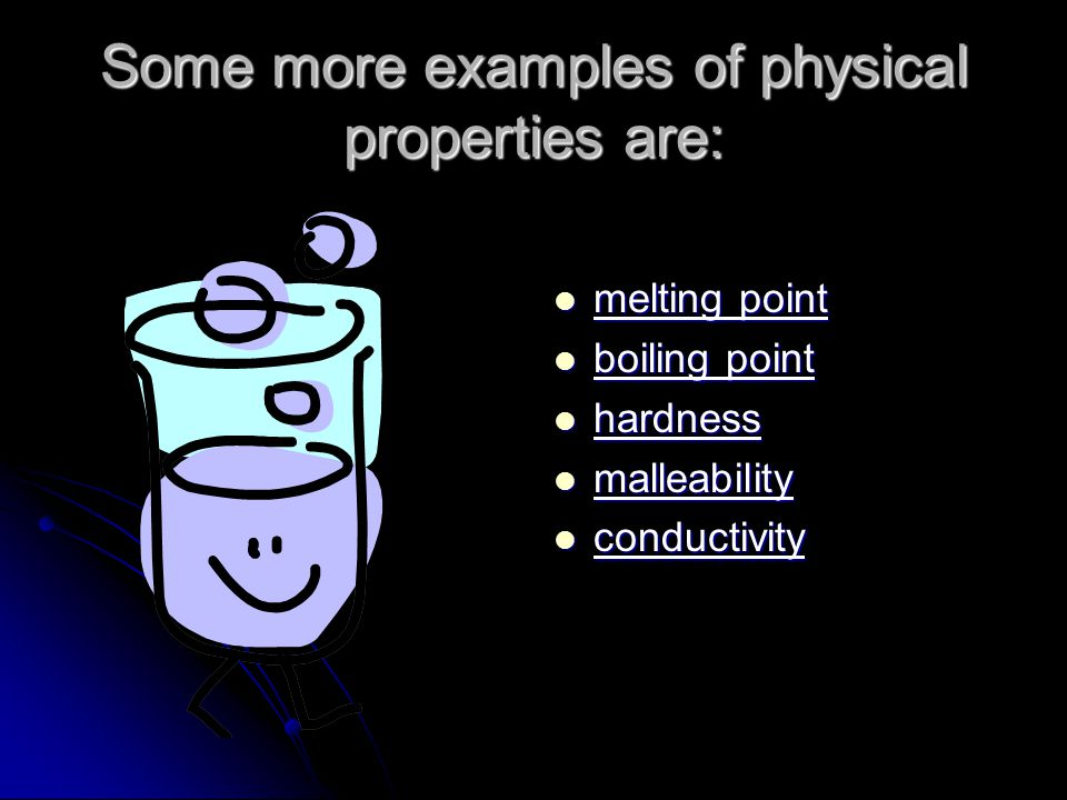 What is matter? Bellwork: Put a check next to each item on ... What Are Some Examples Of Physical Properties