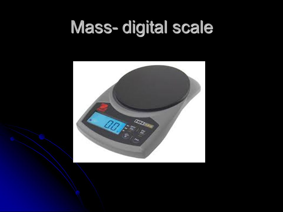 Mass- digital scale