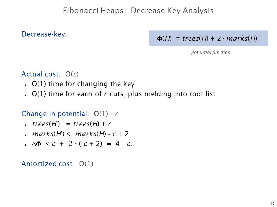 Fibonacci Heaps: Decrease Key Analysis