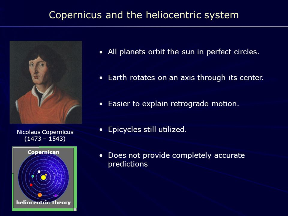 Copernicus and the heliocentric system