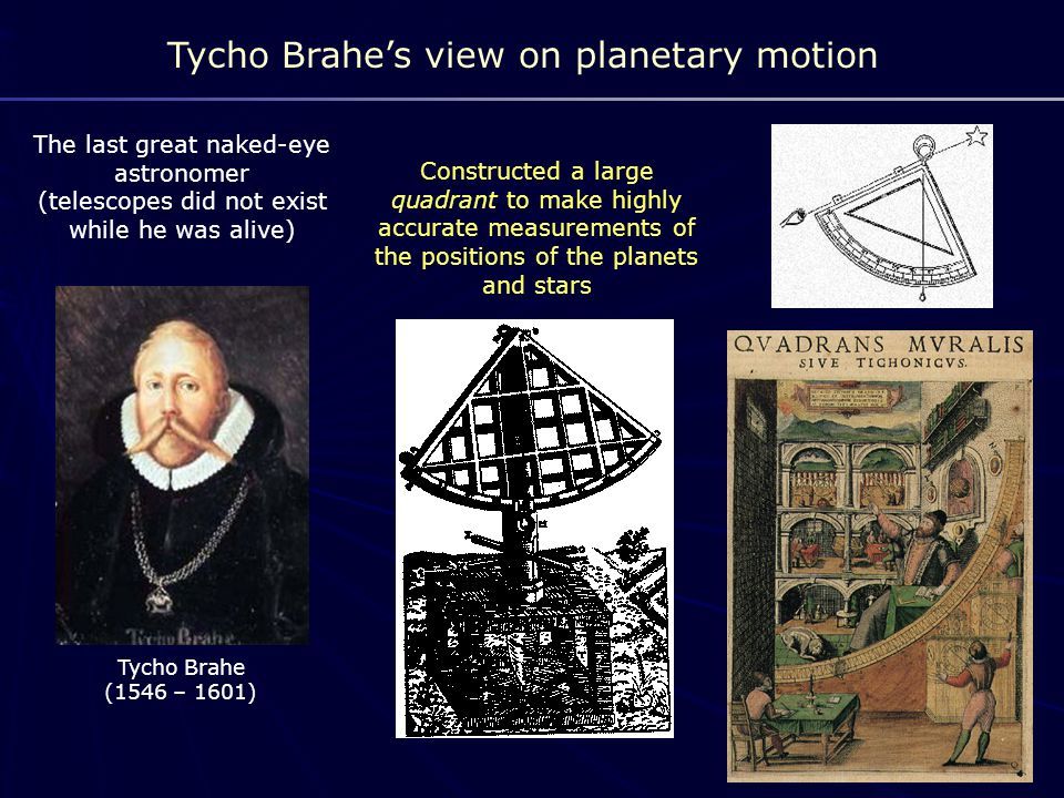 Tycho Brahe's view on planetary motion