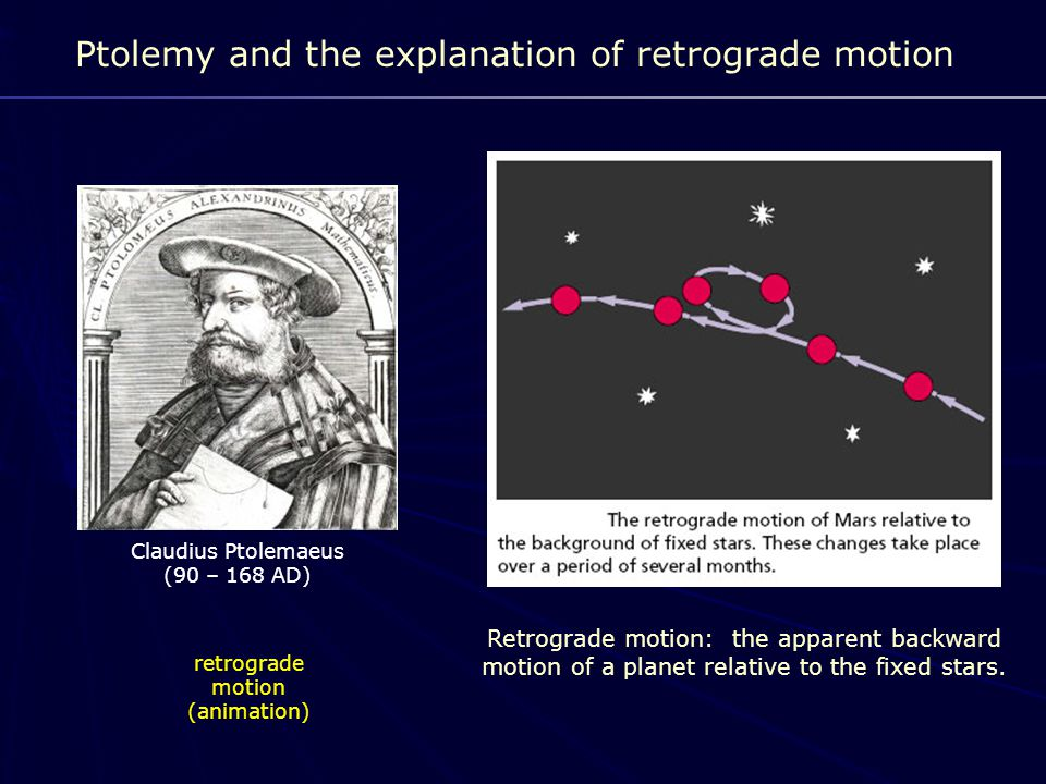Ptolemy and the explanation of retrograde motion