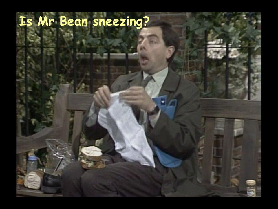 Is Mr Bean sneezing