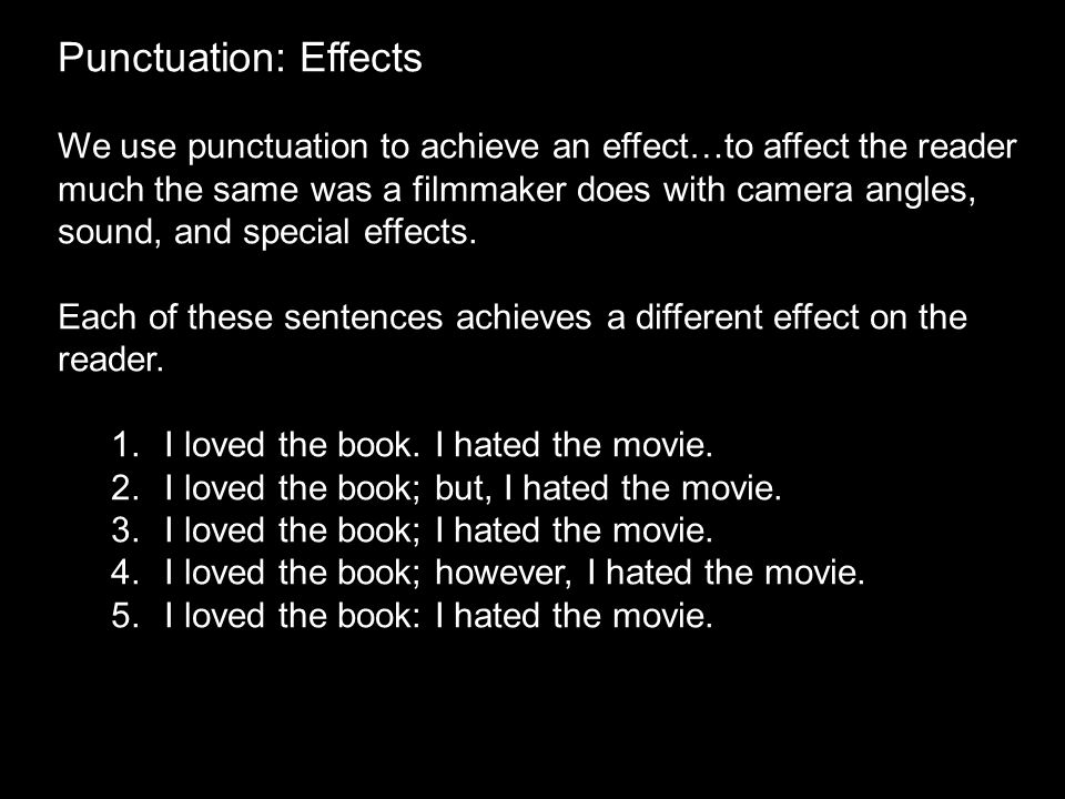 Punctuation: Effects