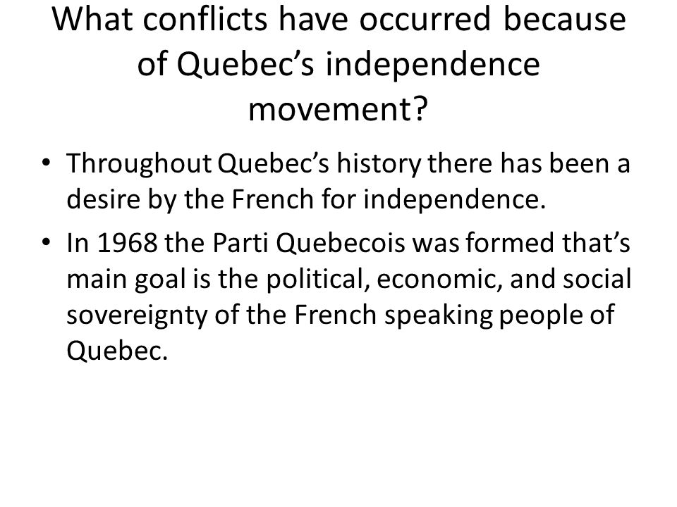 quebec sovereignty movement essay Quebec has voted twice neverendum referendum: voting on independence, quebec-style by nick grievances that fuelled the independence movement.