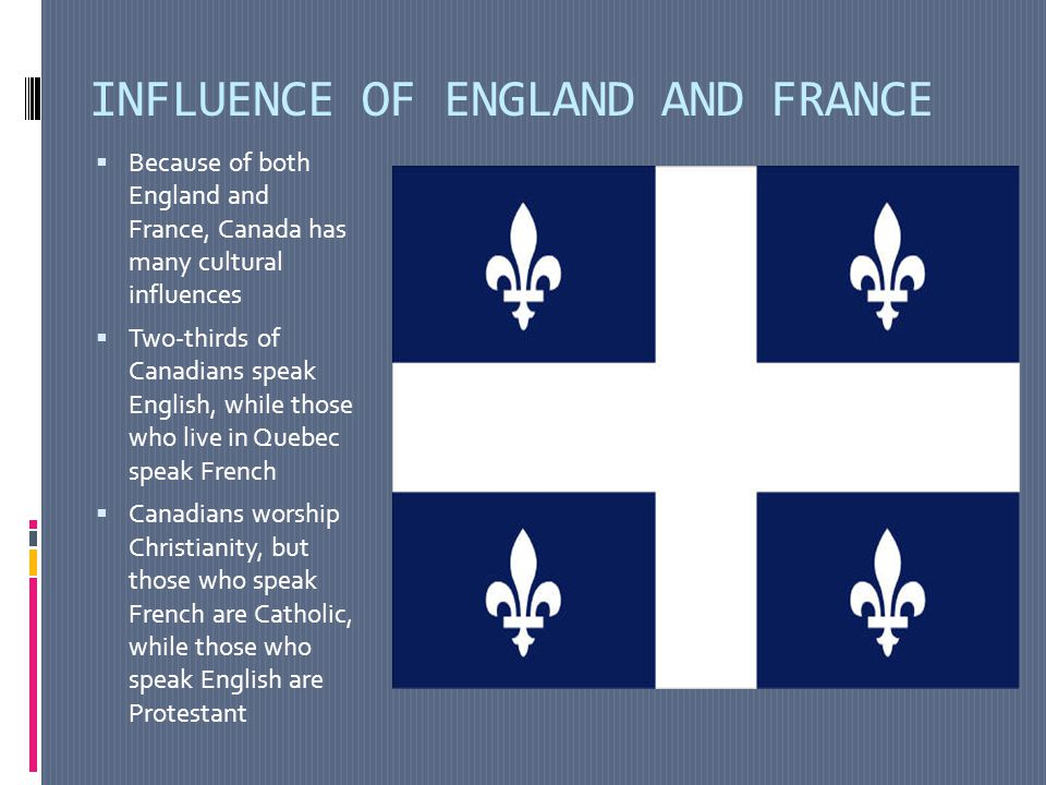 INFLUENCE OF ENGLAND AND FRANCE