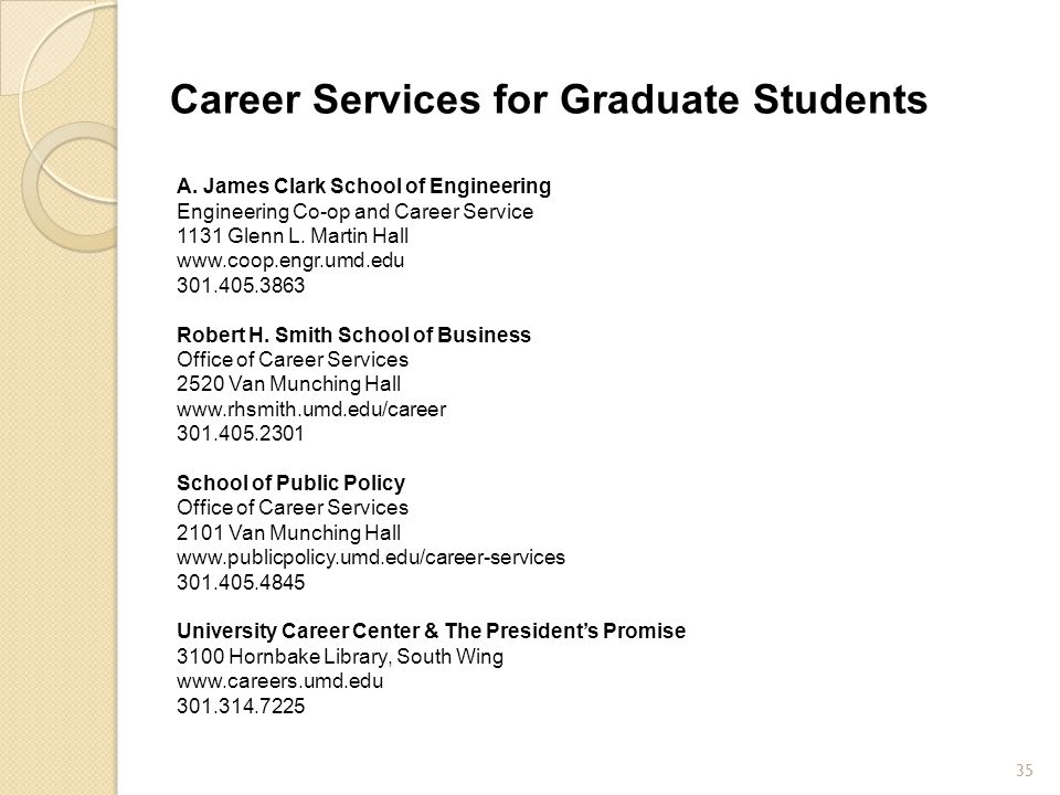 Career Services for Graduate Students