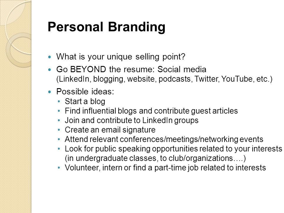 Personal Branding What is your unique selling point