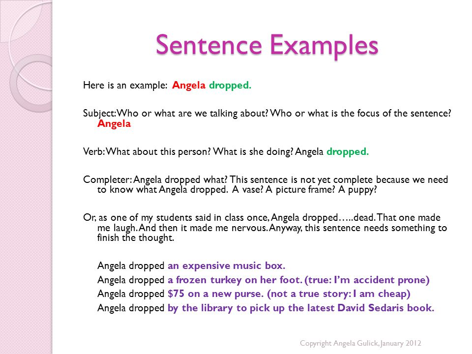 Sentence Examples