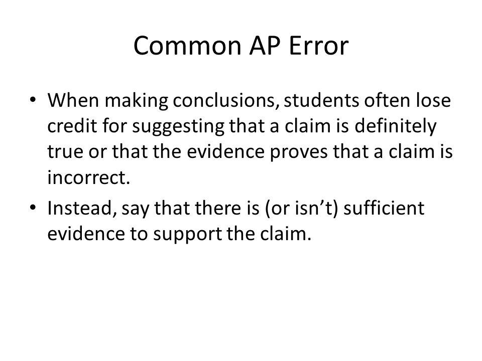 Common AP Error