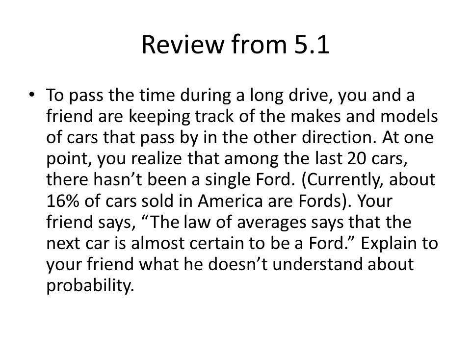 Review from 5.1
