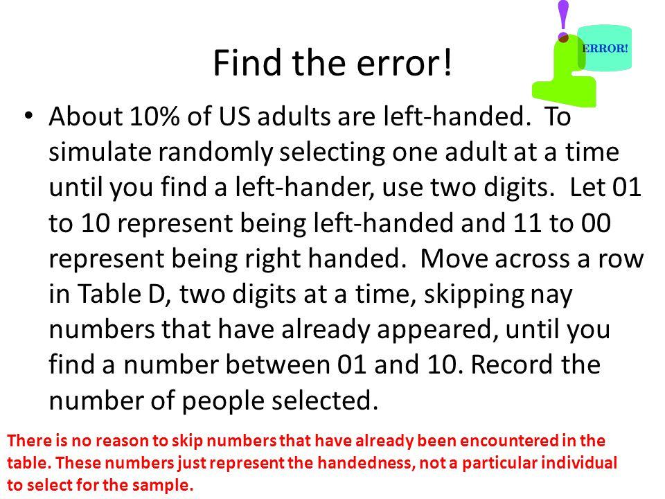 Find the error!