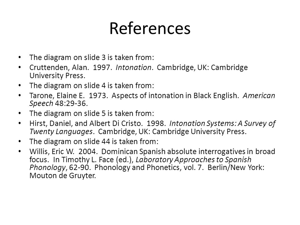 References The diagram on slide 3 is taken from: