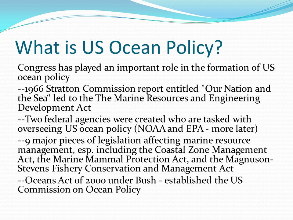 What is US Ocean Policy