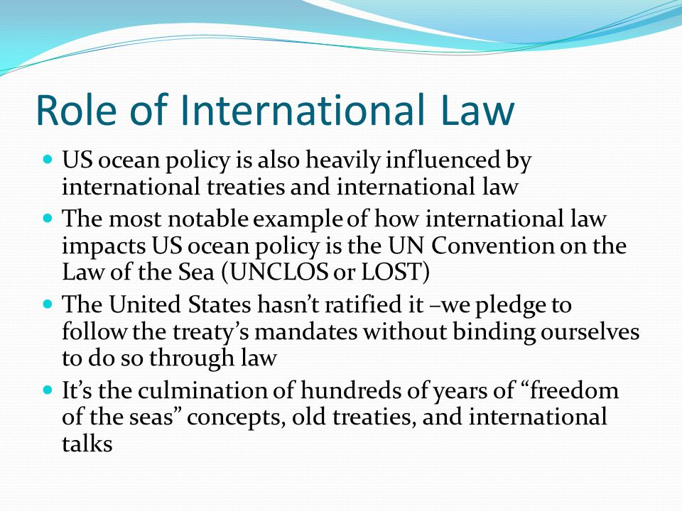 Role of International Law