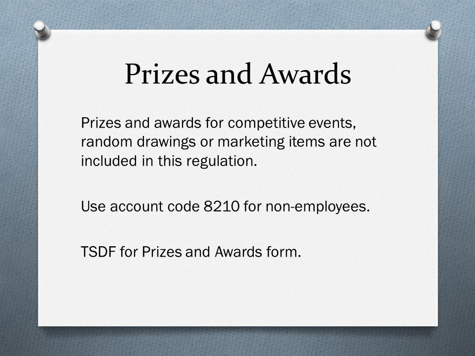 Prizes and Awards
