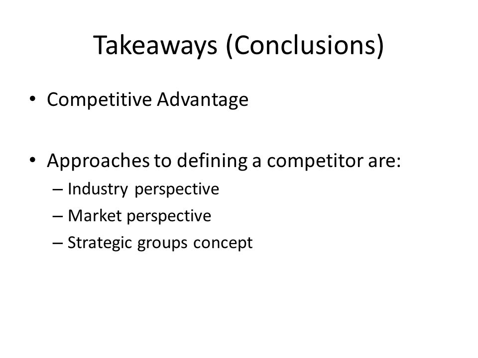 Takeaways (Conclusions)