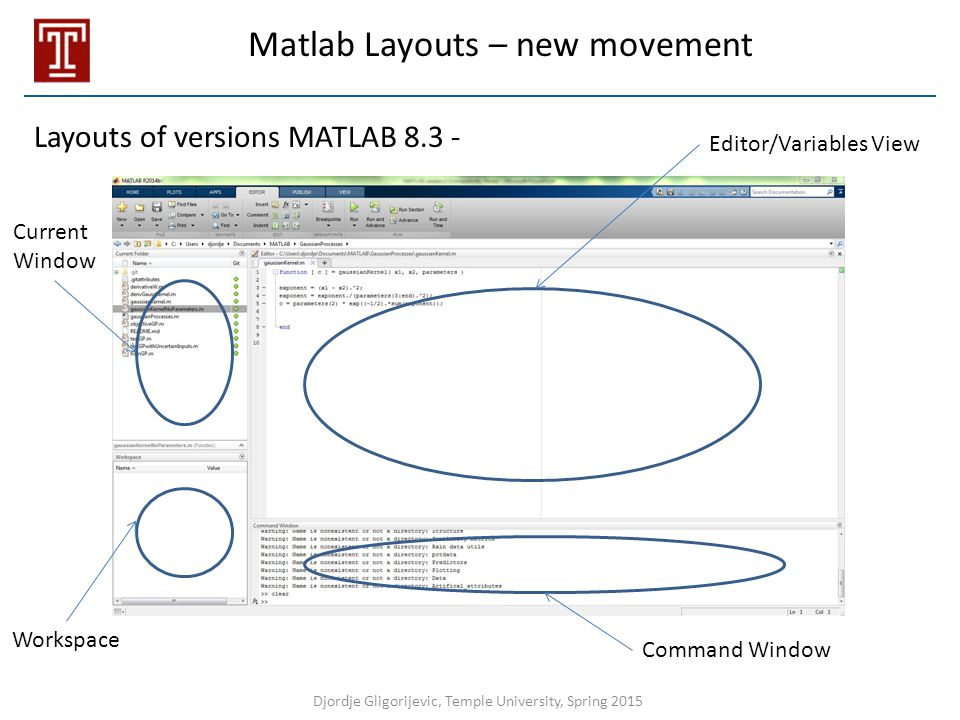 Matlab Layouts – new movement