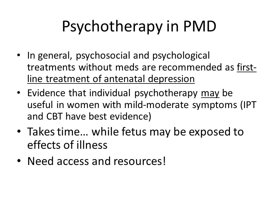 Psychotherapy in PMD