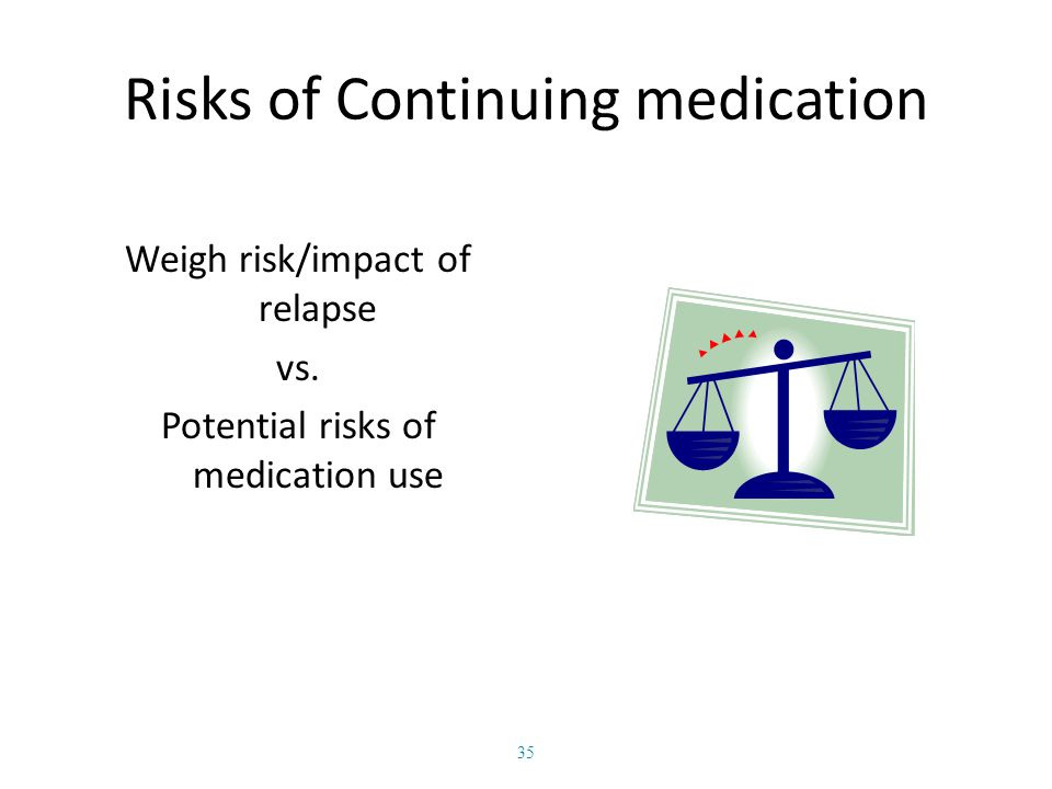 Risks of Continuing medication