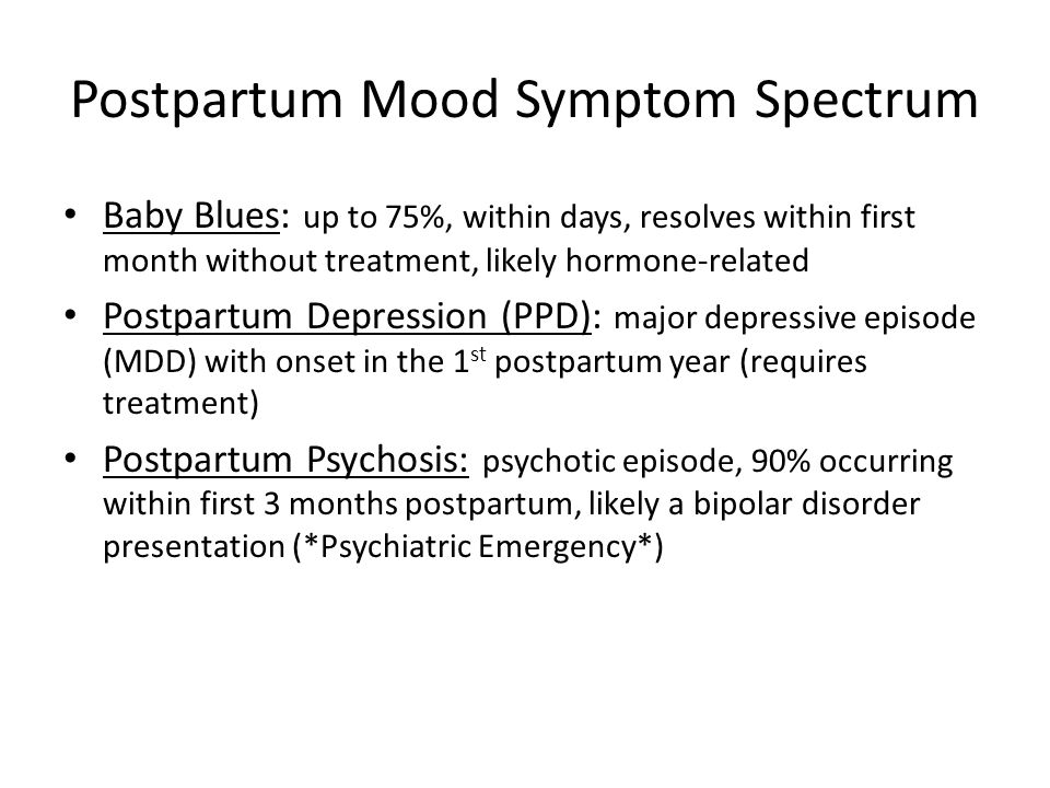 Postpartum Mood Symptom Spectrum