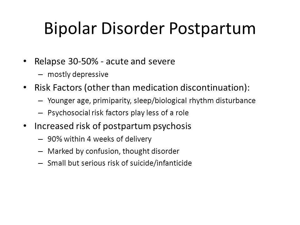 Bipolar Disorder Postpartum